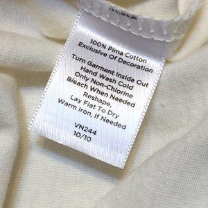 """Talbots Tops - Talbots 3/4"""" Sleeve 100% Pima Cotton"""